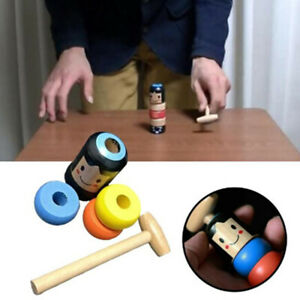 1set Immortal Daruma Unbreakable Wooden Man Magic Toy Fun Toy Accessory^dm