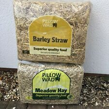 2 Fresh British Meadow Hay Straw Barn Dry Dust Free High Fibre Low 100% Natural