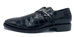 $1,000 Balenciaga Black Leather Loafers size US 10, EU 43, Made in Italy