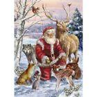 Xmas Santa Claus Animal Full Drill 5D Diamond Painting Embroidery Gifts Arts