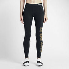 Nike Women's Pro Warm Graphic Navy/Gold Training Tights  Size S 917085 451