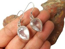 Rose  QUARTZ  Sterling  Silver  925  Gemstone  EARRINGS  -  Gift Boxed!