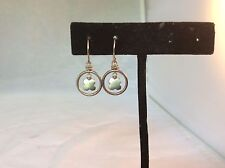 Elizabeth Showers Sterling circle and charm earrings