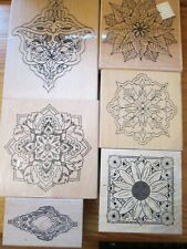 JOB LOT Creative Stamping & Paper Mania Mandala & Flower Rubber Stamps