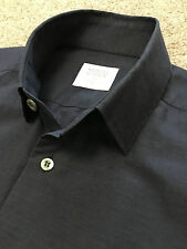 WORN ONCE SMYTH & GIBSON CONTEMPORARY FIT NAVY SHIRT S SMALL COST £125