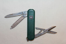 "Wenger Swiss Army Knife Green 2 1/2"" ALLIED SYSTEMS C.A.R.S. needs repair (W150)"