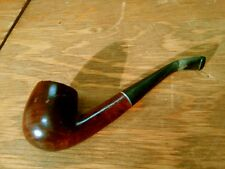 Vintage Whitehall Garrison Briar Wood Bent Billiard Style Tobacco Pipe Italy