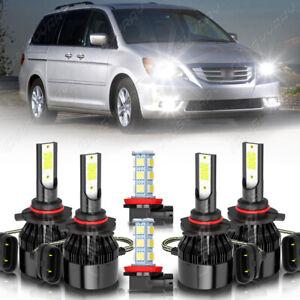 For Honda Odyssey 2005 2006-2010 faro LED alto/bajo+Kit de bombillas antiniebla