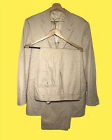 $2530 Caruso Beige Summer Drake's Bespoke Cotton Suit 40R Eu50 Italy HAND MADE