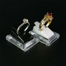 Acrylic Transparent Ring Show Display Showcase Jewelry Decoration Stand Hol Qj