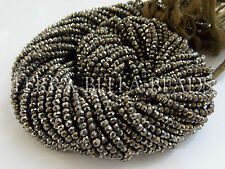 "13"" strand natural golden PYRITE faceted gem stone rondelle beads 3mm"