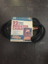 Road Power 12 Foot Booster Cable 10 Gauge Copper No Tangle NEW
