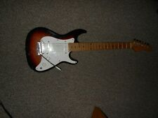 Vintage electric guitar fender strat shape twin pickups  Kingston from Korea?