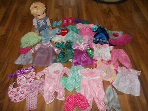 """BABY ALIVE Doll 13""""  ALL GONE UNBRANDED CLOTHING Clothes LOT disney princess"""