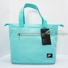 3831a43c1c1e9 NWT Nike BA5566-434 Tech Tote Zipper Bag Messenger Gym Polyester Light  Aquarium
