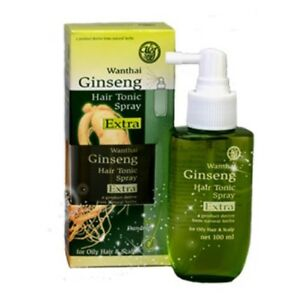 Wanthai ginseng hair tonic spray natural herb anti dandruff for oily hair&scalp