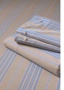"LANDS' END Set of 2 EURO Pillow SHAMS Size: 26 x 26"" New SHIP FREE Striped"
