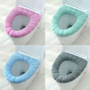 Bathroom Soft Washable Toilet Seat Cover Mat Set for Home Decor Toilet Lid Cover