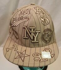 NEW City Hunter Embroidered New York NY Fitted Baseball Cap Hat Size Large