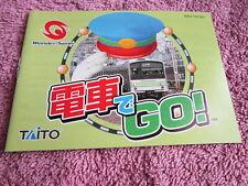 DENSHA DE GO TAITO WONDERSWAN ORIGINAL NOTICE MANUAL INSTRUCTION JAP no gba