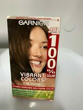 100% Hair Color Vitamin Enriched Gel-Creme Color #401 Deep Brown By Garnier
