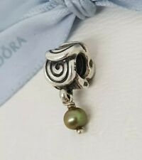 Authentic Pandora Oxy Swirl Green Pearl Dangle Charm 790281GRP Retired