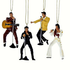 CHRISTMAS ELVIS PRESLEY KURT S. ADLER 4 PC SET ORNAMENT.ELVIS ORNAMENT