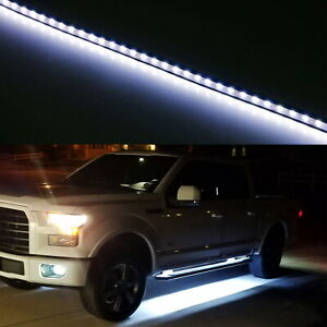 "40"" 63-SMD Flexible LED Running Board/Side Step Lighting Kit For Ford GMC Truck"