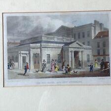 "Antique Georgian Aquatint Engraving ""The Hot Baths And New Infirmary"" Bath 1829"