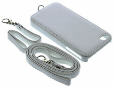 Hard PU Leather Back Case for iPhone 4 / 4G / 4S with Short Strap and Lanyard