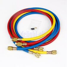3pcs 60'' AC Charging Hoses Refrigerant R134a Air Conditioning Refrigeration DE