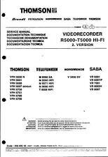Telefunken Nordmende Saba Original Service Manual f. Video Chassis R/T 5000 HiFi