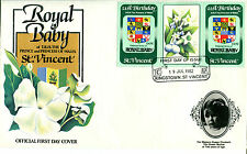 St VINCENT 1982 BIRTH OF PRINCE WILLIAM 60c GUTTER PAIR FIRST DAY COVER