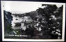 TURKEY ~ 1920's ISTANBUL ~ BEBEK  BOSPHORE ~SHIP IN HARBOR~  Real Photo PC  RPPC