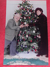 JAN & MICKEY ROONEY CHRISTMAS PHOTO TO BUDDY EBSEN AUTOGRAPH SIGNATURE