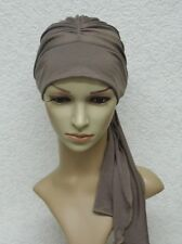 Chemo cap with ties, chemo head wear, full head coverage, alopecia, hair loss