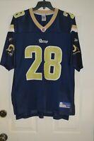 REEBOK NFL FOOTBALL LOS ANGELES RAMS #28 MARSHALL FAULK JERSEY LARGE ST LOUIS!