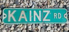 """Vintage """" KAINZ RD """" Metal Street Sign Embossed Print 6"""" x 26"""" 🤩"""