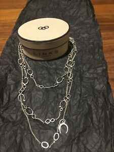 Authentic Links of London Watch Over Me RARE silver necklace ( very long )