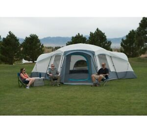 3 Room Cabin Tent 16 Person Big Family Shelter Large Outdoor Hiking Camping Gear