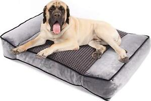 Large Dog Bed(102x69cm) - Warm Plush & Cool Silk Double Sided