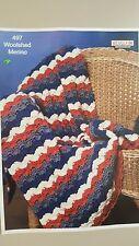 Heirloom Crochet Pattern #497 To Make Crochet Blanket in Woolshed Merino Yarn