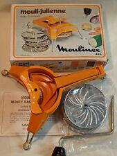 Vtg Mouli-Julienne Mill Rotary Slicer-445-5 Discs-EUC