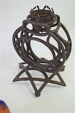 Pied de Lampe Art Deco Fer Forgé Rond Étoile 1925 XX 20th Objet de Maitrise