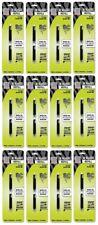 Case of 12- Zebra R-Refill Plens-Rollerball Pen Refills, R-Refill, 2/PK, Black