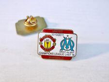 Man United Utd v Olympique de Marseille 2010/11 Champ League Match Day Pin Badge