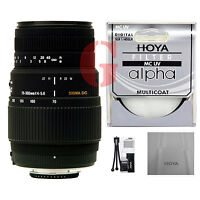 Sigma 70-300mm f4-5.6 DG Lens for Pentax w Hoya Filter Bundle. Authorized Dealer