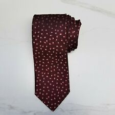 CHARVET Men's Necktie Red Pink Speckled Dots 100% Silk Luxury Tie Made in France