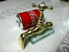 """ARCHITECTURAL SALVAGE VINTAGE VICTORIAN TAP FAUCET 1/2"""" IN BRASS & PORCELAIN"""