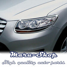 Chrome Headlight Lamp Cover Trim for 07~12 Hyundai Santa Fe